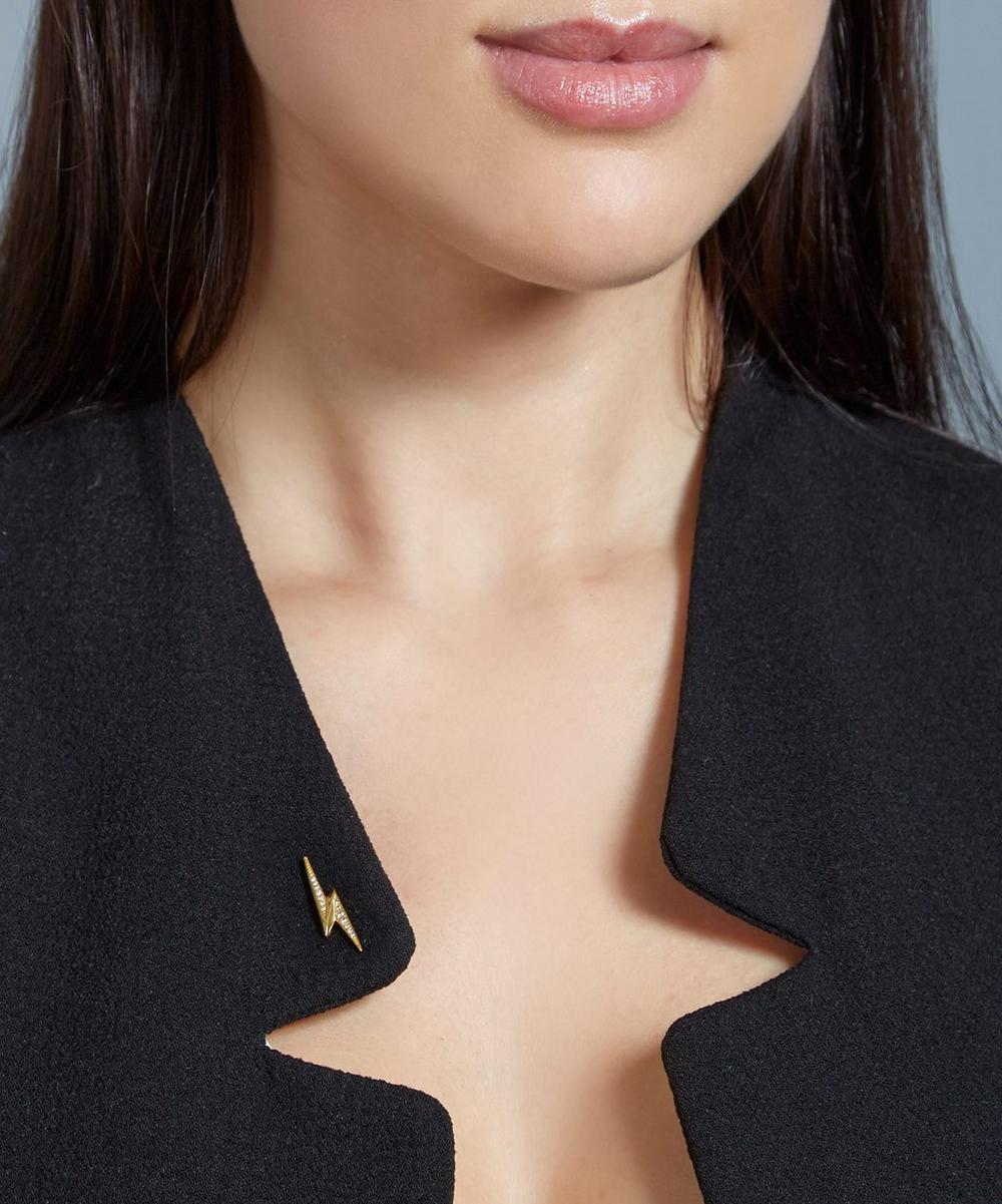 Gold-Plated Lightning Bolt Biography Pin