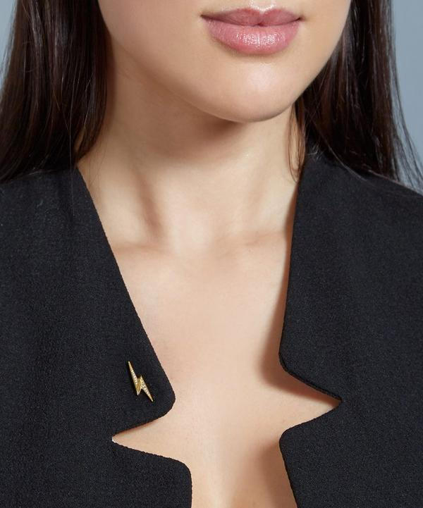 Gold-Plated Lightning Bolt Biography Pin
