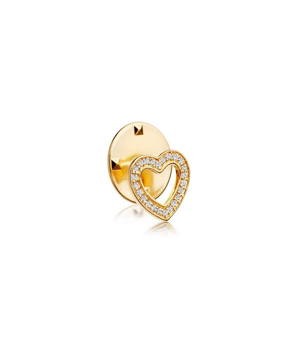Gold-Plated Heart Biography Pin