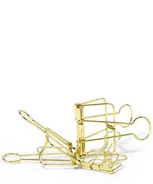 Gold-Tone Outline Clip Set