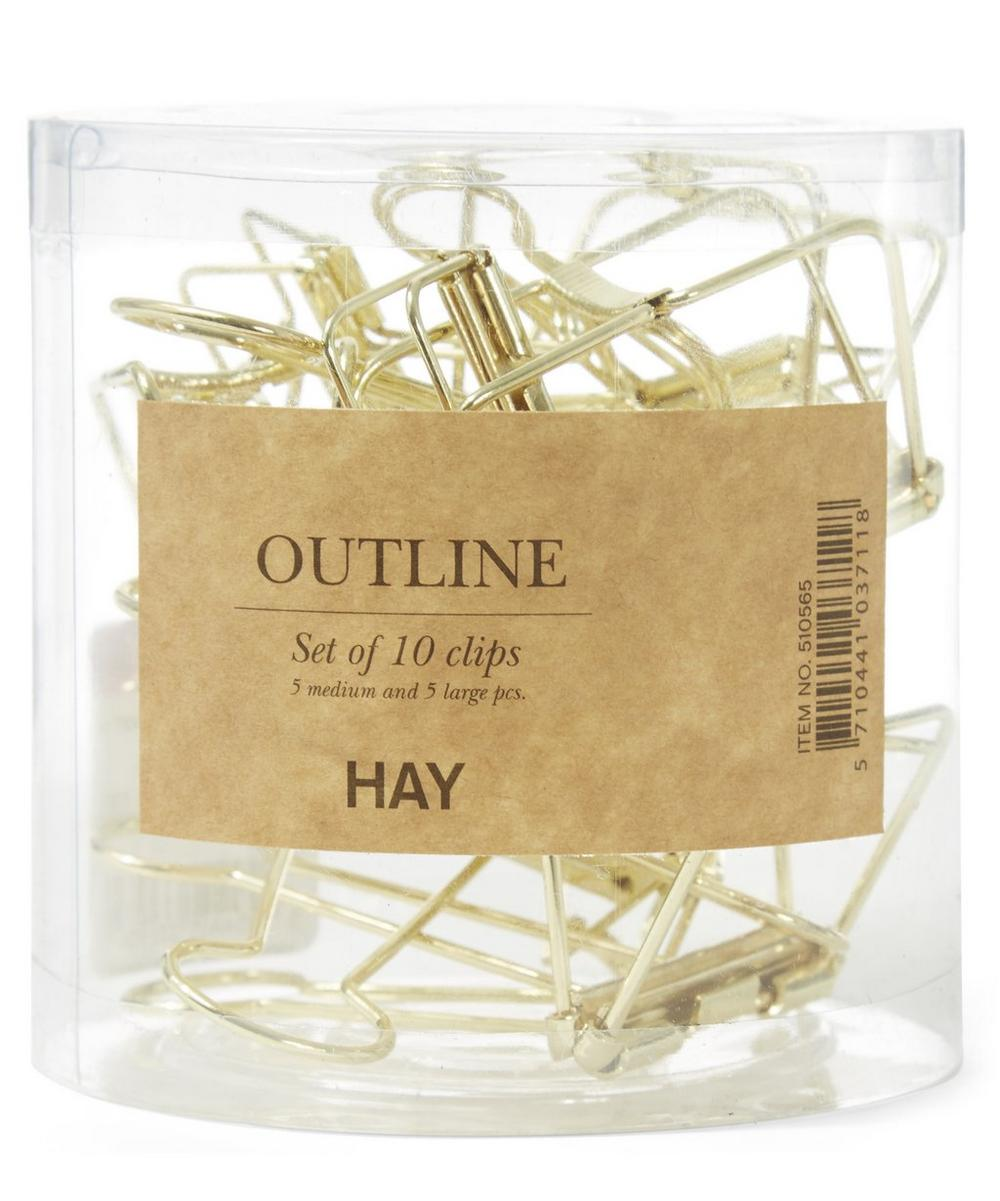 Gold-Tone Outline Clip Set