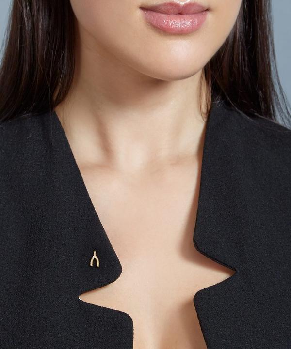 Gold-Plated Wishbone Biography Pin