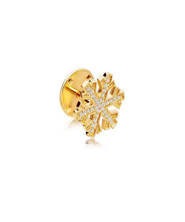 Gold-Plated Snowflake Biography Pin
