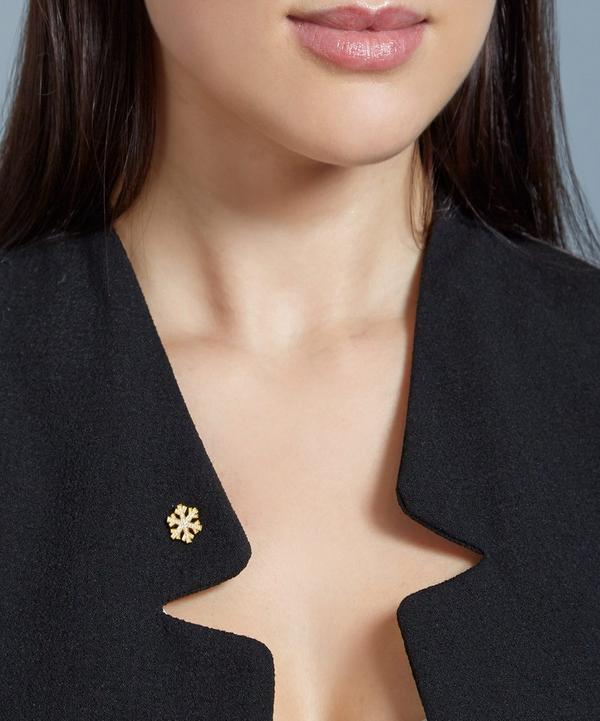Gold-Plated Snowflake Biography Pin