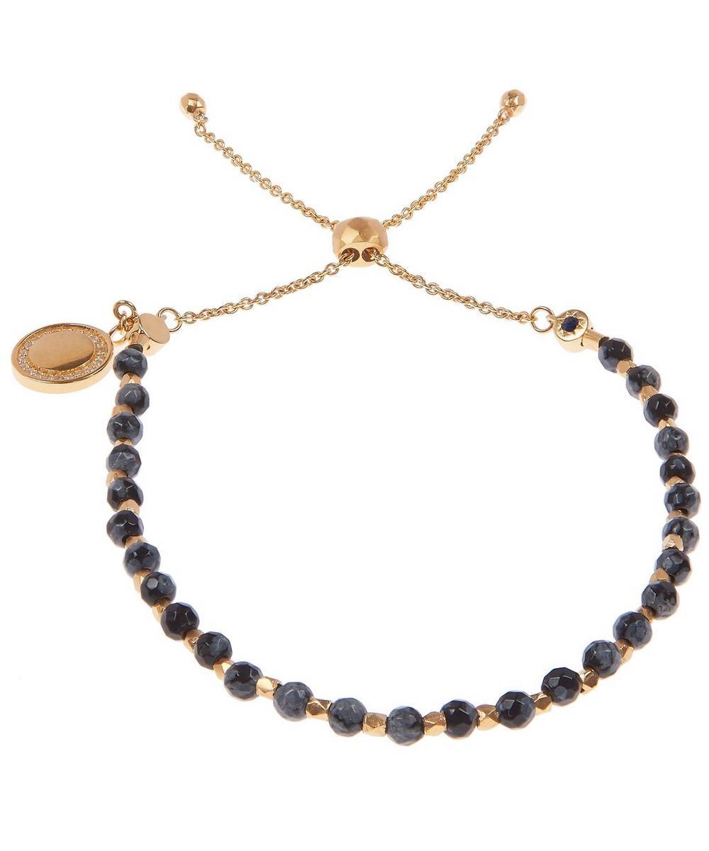 Gold Thundercloud Obsidian Kula Bracelet