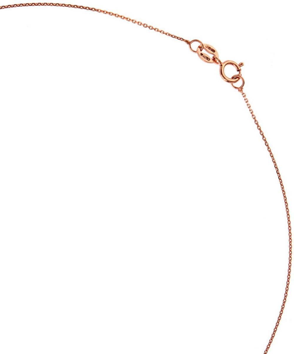 Rose Gold Black Diamond Letter Z Necklace