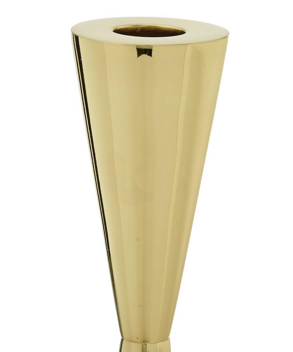 Tom Dixon Tall Brass and Stone Candle Holder