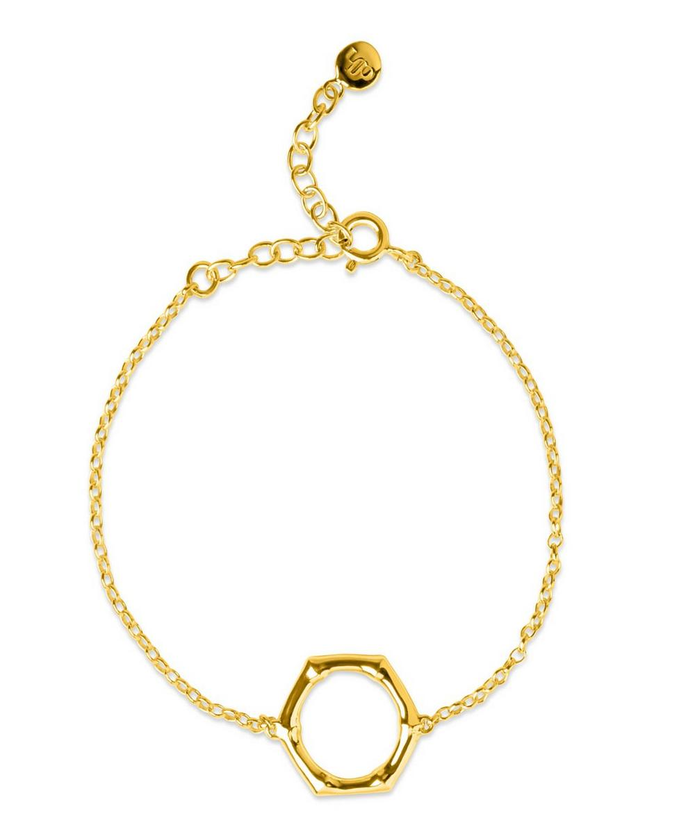 Gold-Plated Bamboo Round Bracelet