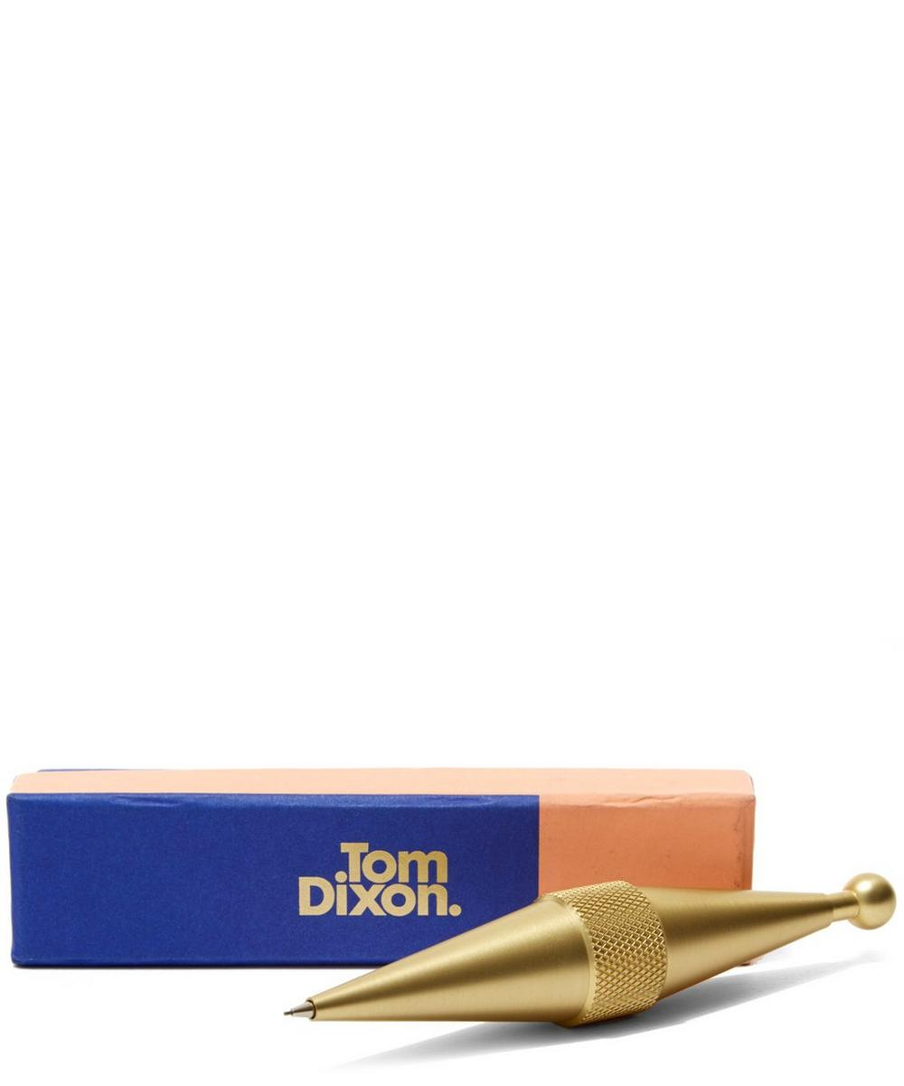 Brass Cog Pencil Top