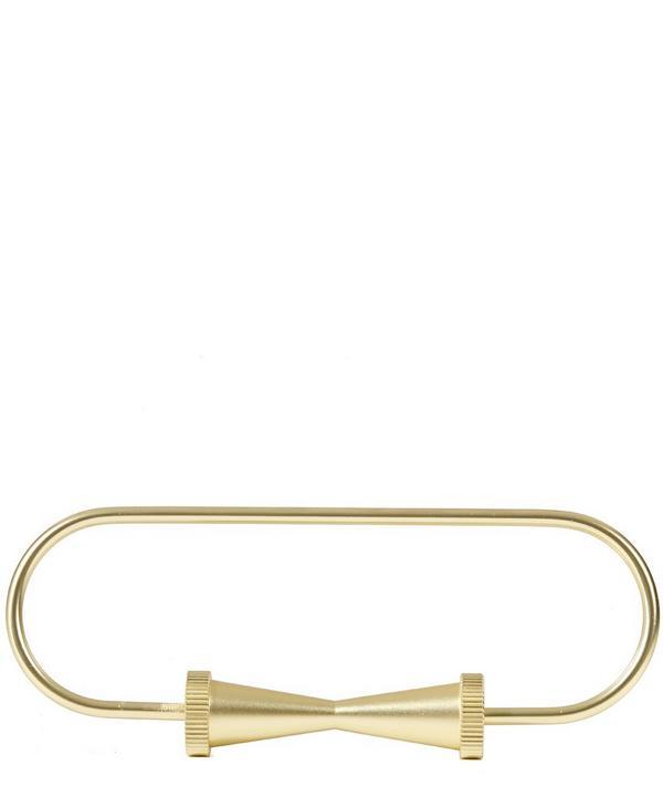 Brass Cog Loop Keyring