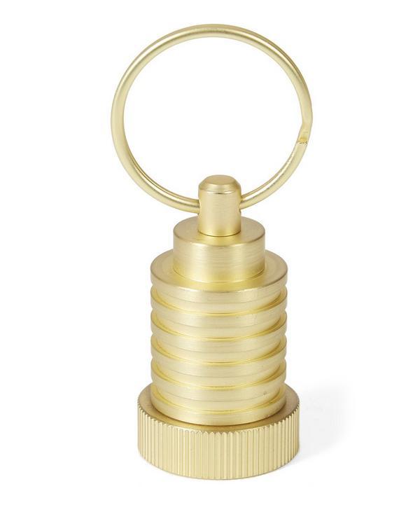 Brass Pod Cog Keyring