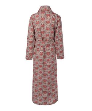 Red Kitty Grace Cotton Long Robe