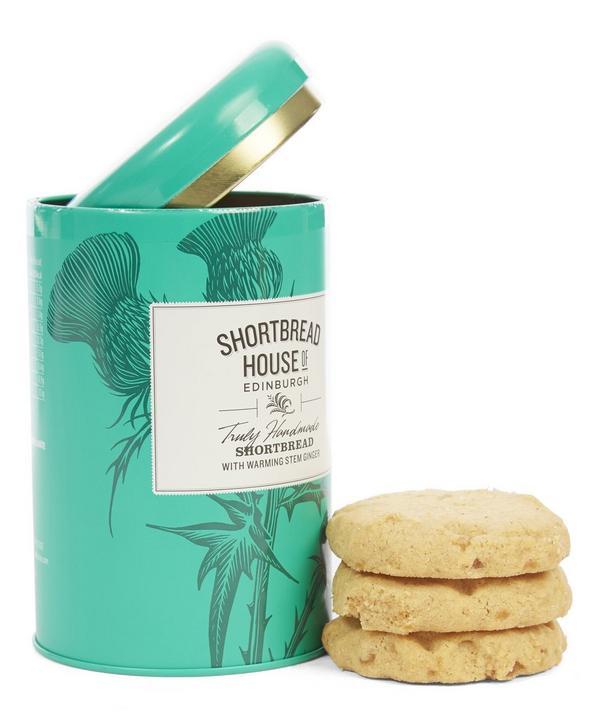 Small Stem Ginger Shortbread Tin