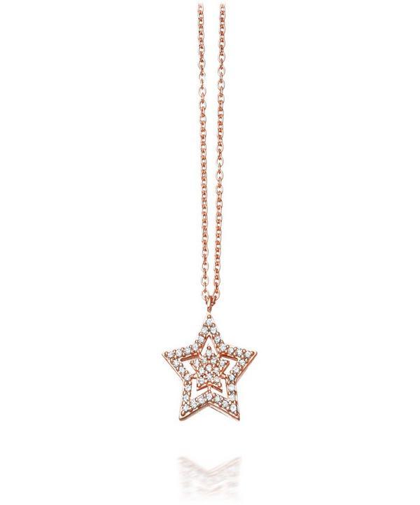 Rose Gold Super Star Pendant Necklace