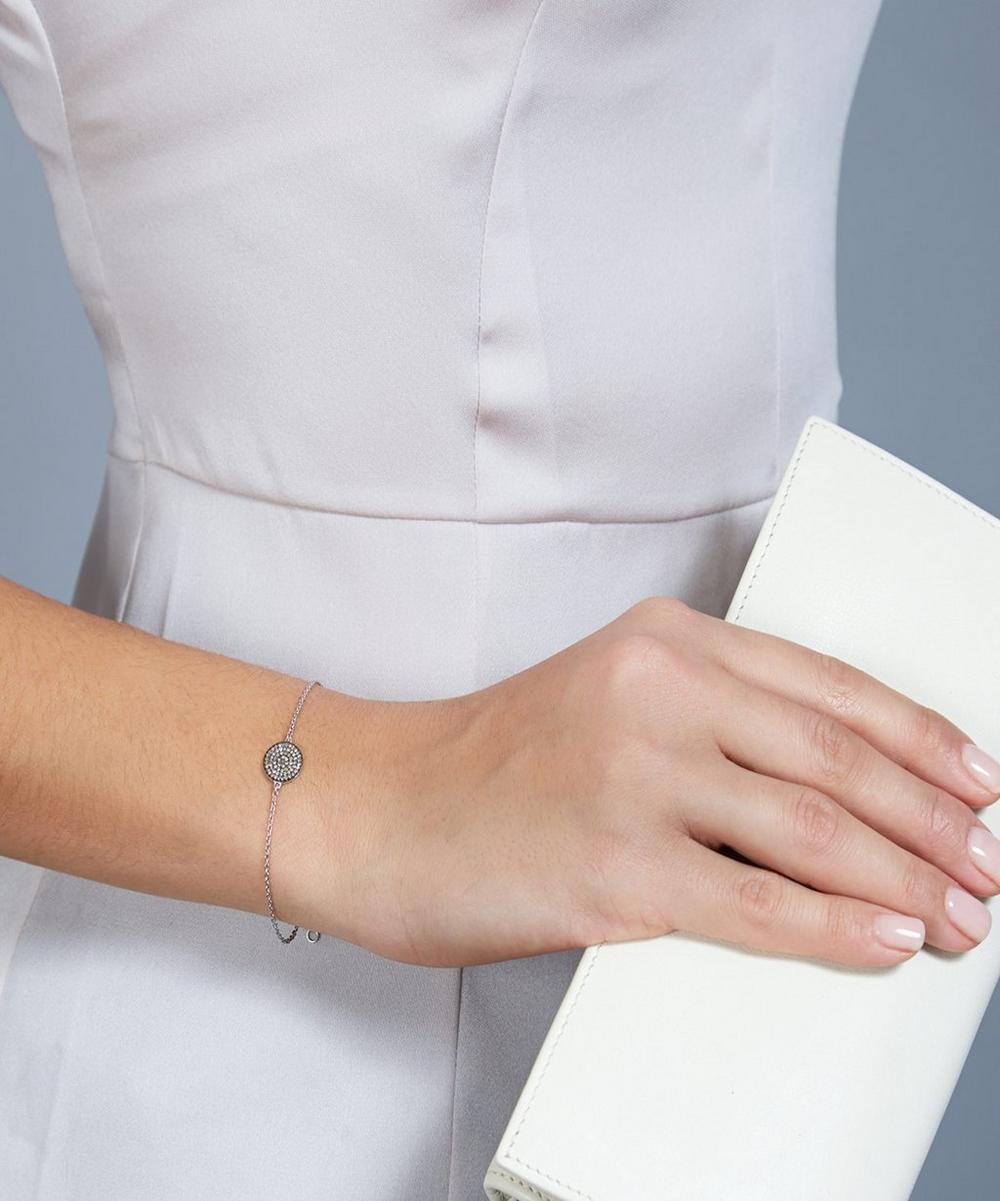 Small White Gold Icon Bracelet