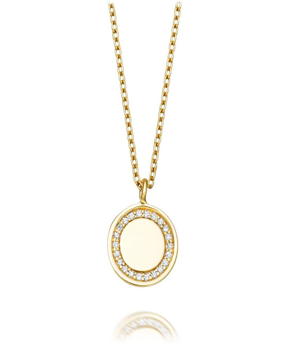 Gold Cosmos Pendant Necklace