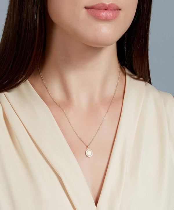 Gold Cosmos Pendant Necklace
