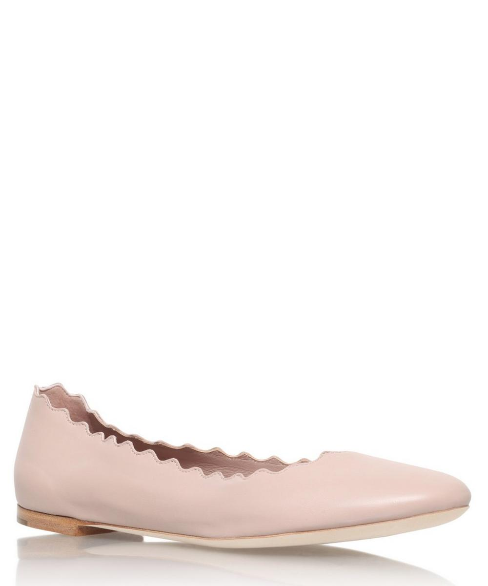 Suede Scalloped Ballet Flats