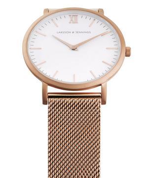 Lugano 40mm Rose Gold-White Milanese Watch