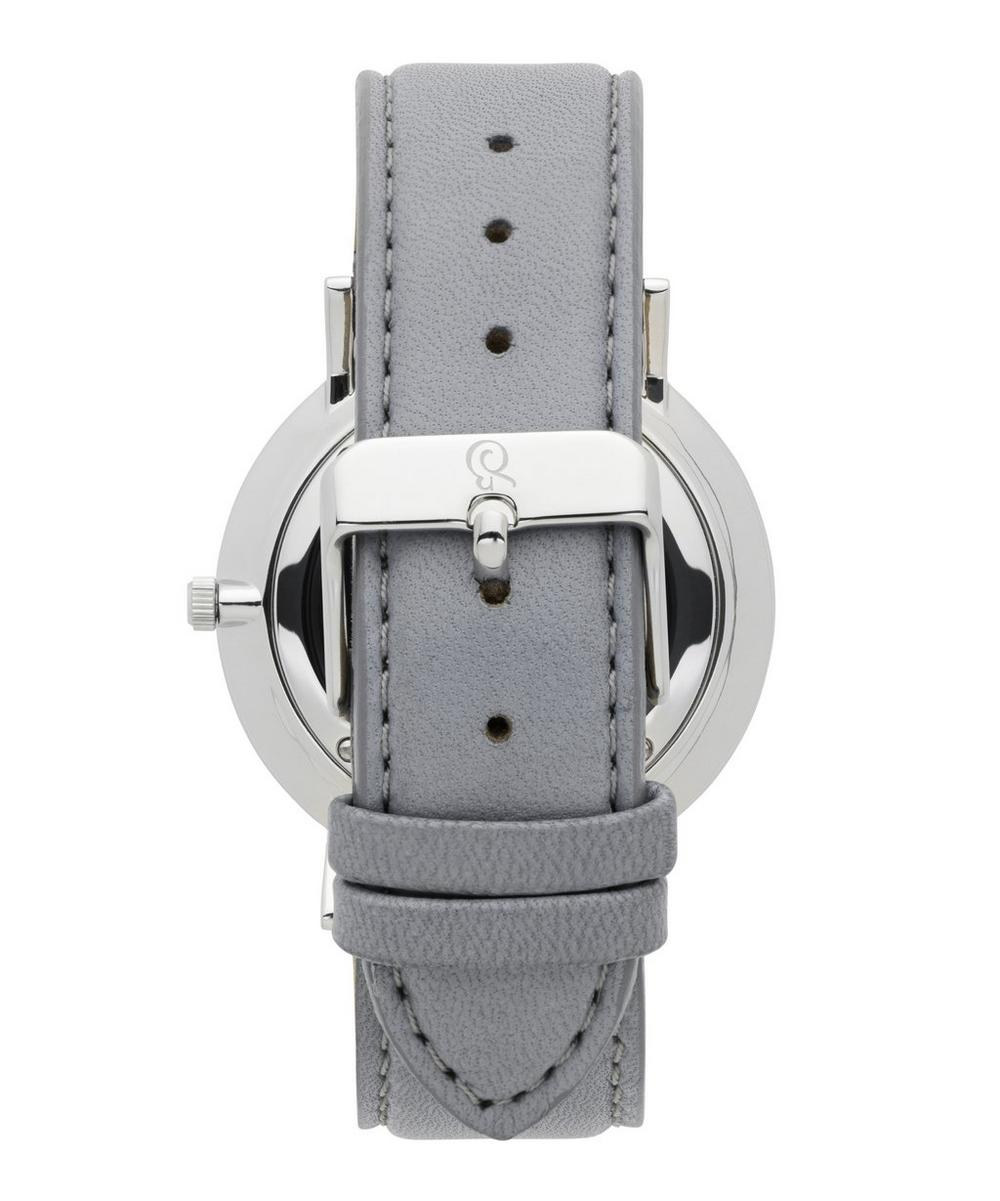 40mm Lugano Dove Grey-Silver Leather Watch