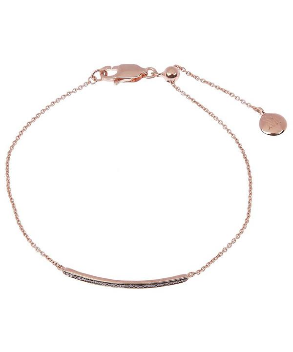 Rose Gold-Plated Black Diamond Skinny Bracelet