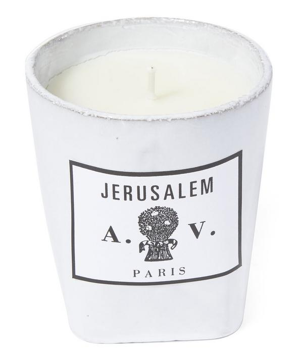 Jerusalem Ceramic Candle
