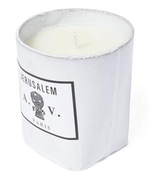 Jerusalem Ceramic Candle