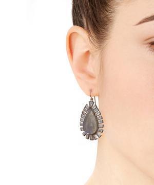 Mixed Gemstone Drop Earrings