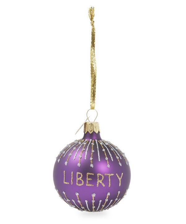 Glitter Liberty Bauble