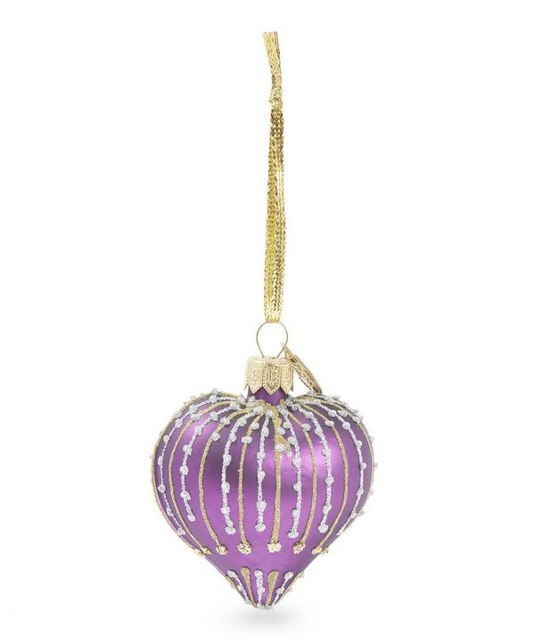 Glitter Liberty Heart Bauble