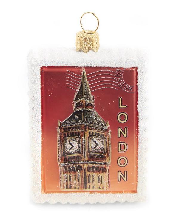 London Big Ben Postage Stamp Decoration
