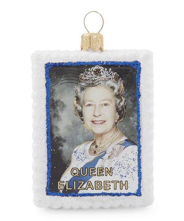 Queen Elizabeth Glitter Decoration