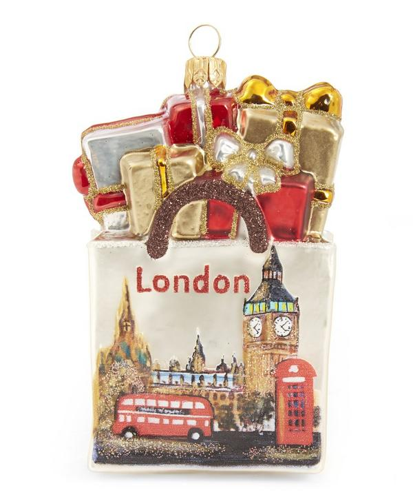 London Christmas Shopping Bag Decoration
