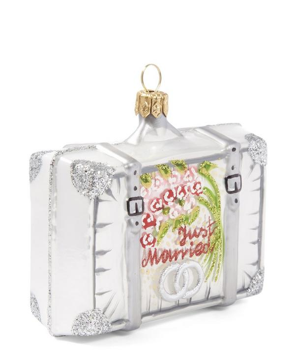 Just Married Honeymoon Suitcase Decoration