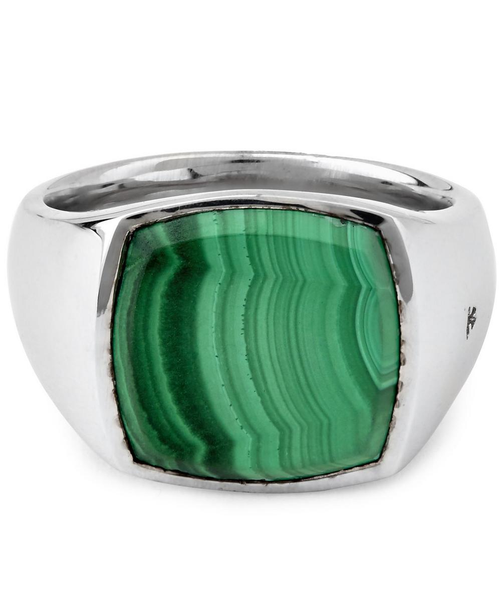 Cushion Malachite Ring