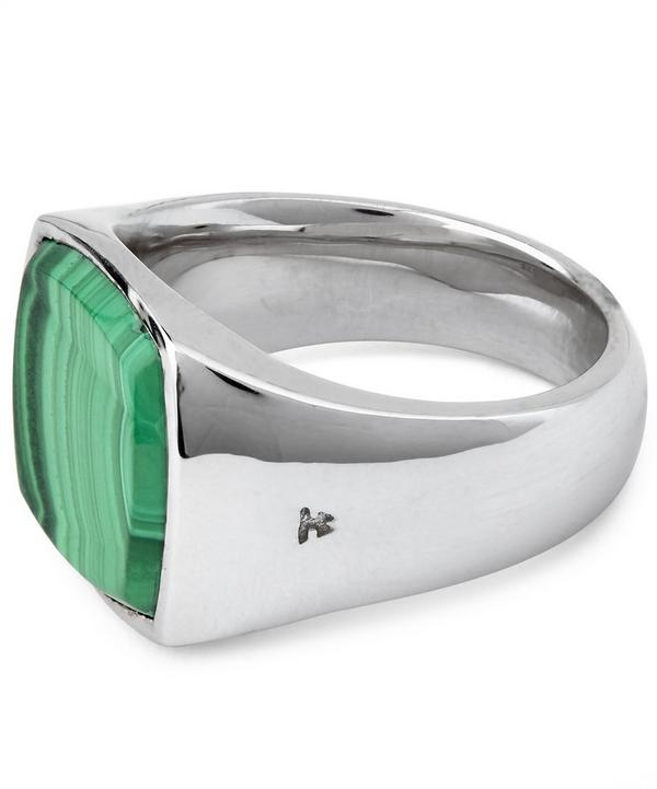 Cushion Malachite Ring