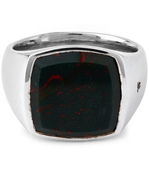 Cushion Blood Stone Ring