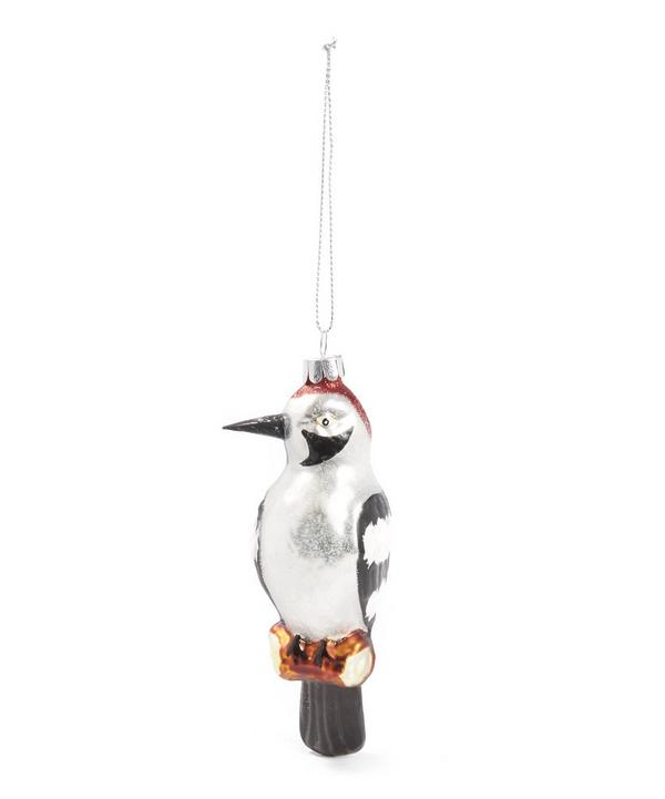 Glass Woodpecker Decoration