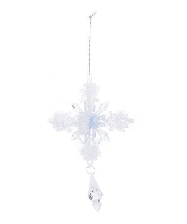 Glitter Snowflake Drop Decoration