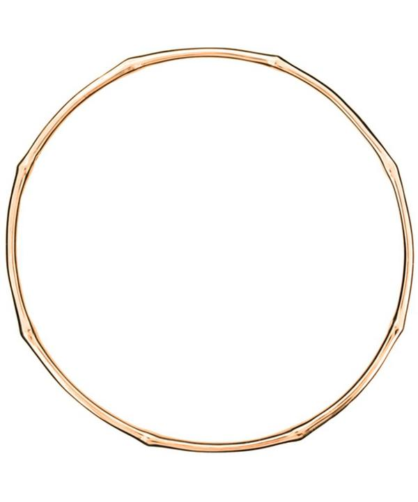 Rose Gold-Plated Bamboo Bangle