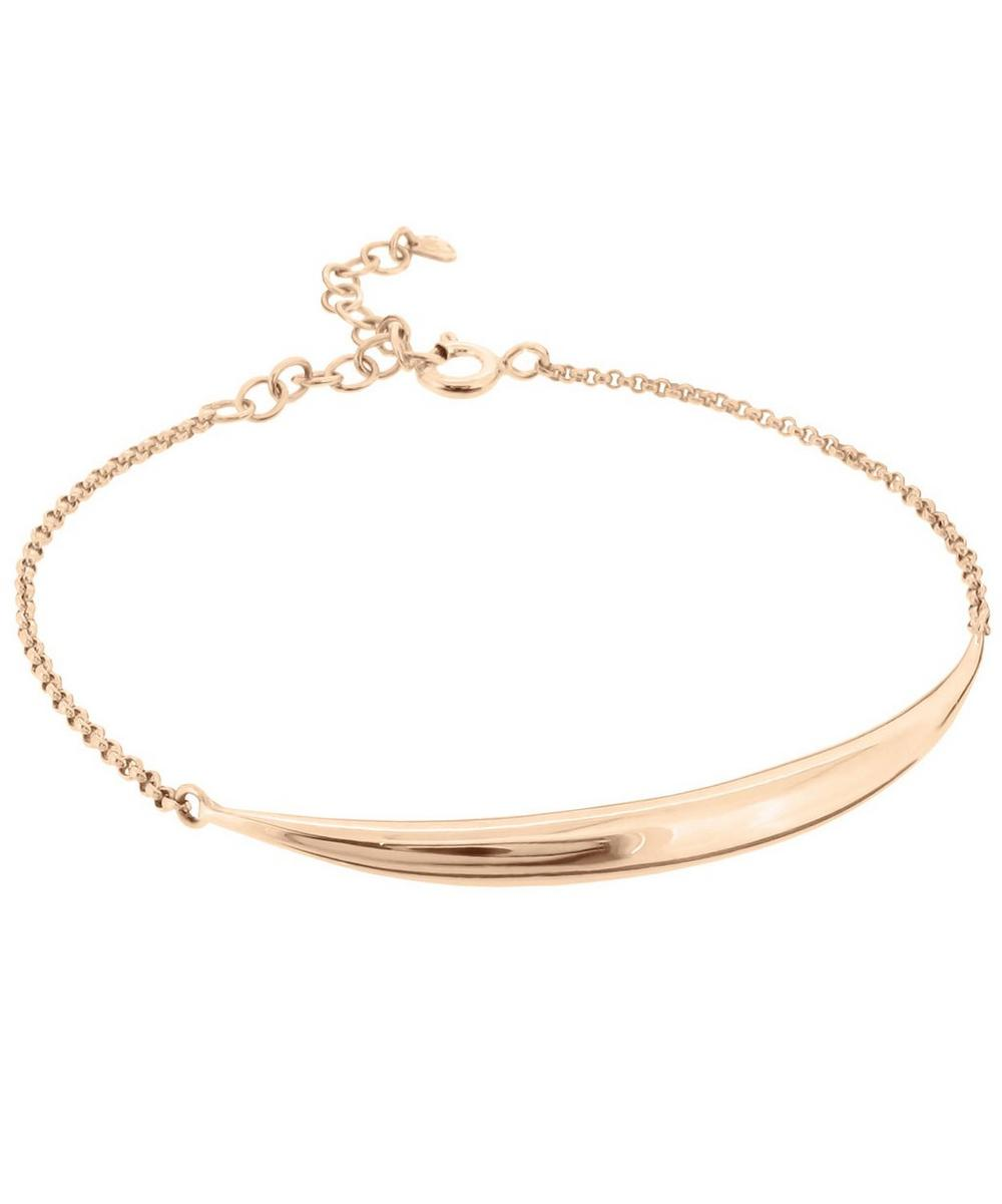 Rose Gold-Plated Signature Bar Bracelet