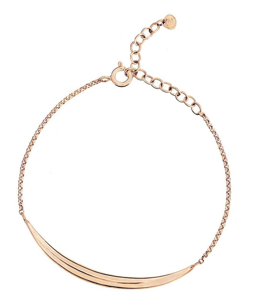 Rose Gold-Plated Signature Bar Bracelet