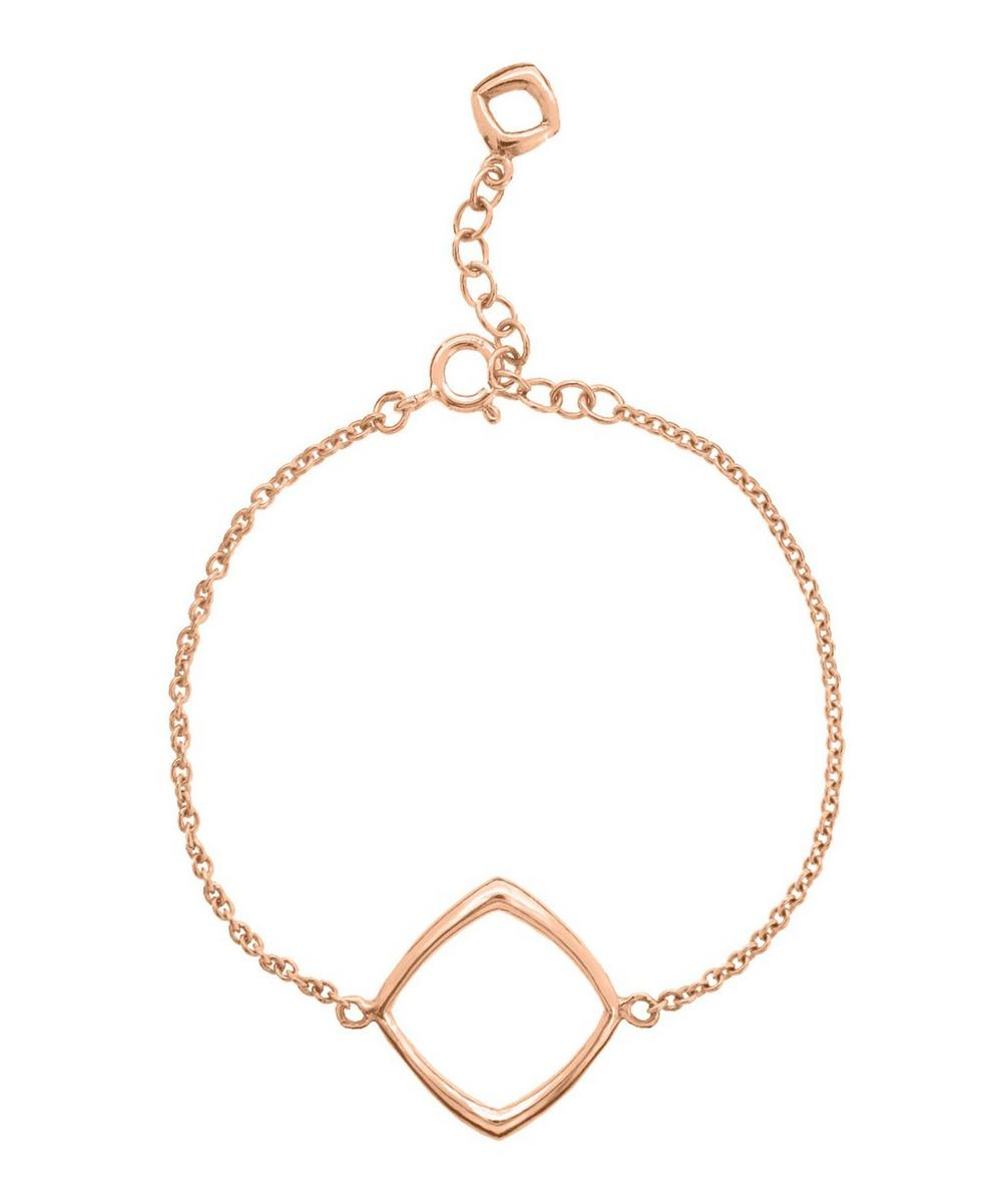 Rose Gold-Plated Cushion Bracelet