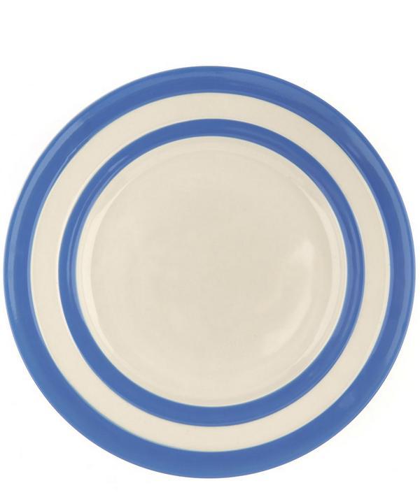 Stripe Stoneware Lunch Plate