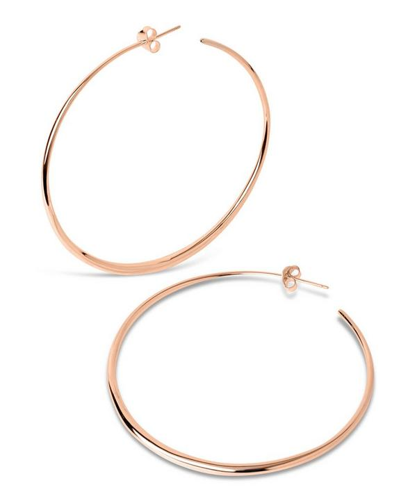 Large Rose Gold-Plated Signature Hoops