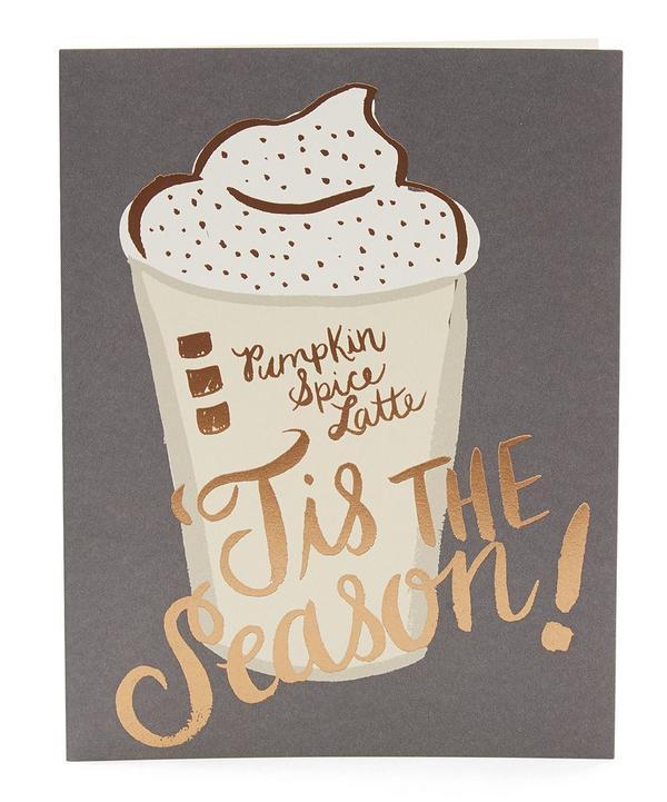 Pumpkin Spice Latte Card