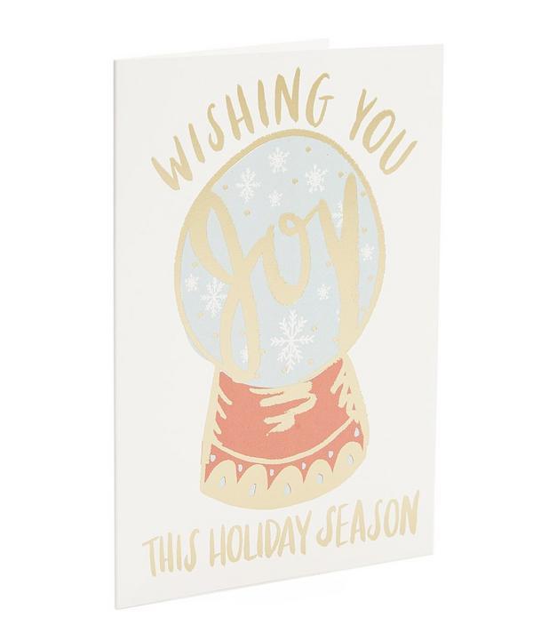 Joyful Wishes Snow Globe Card