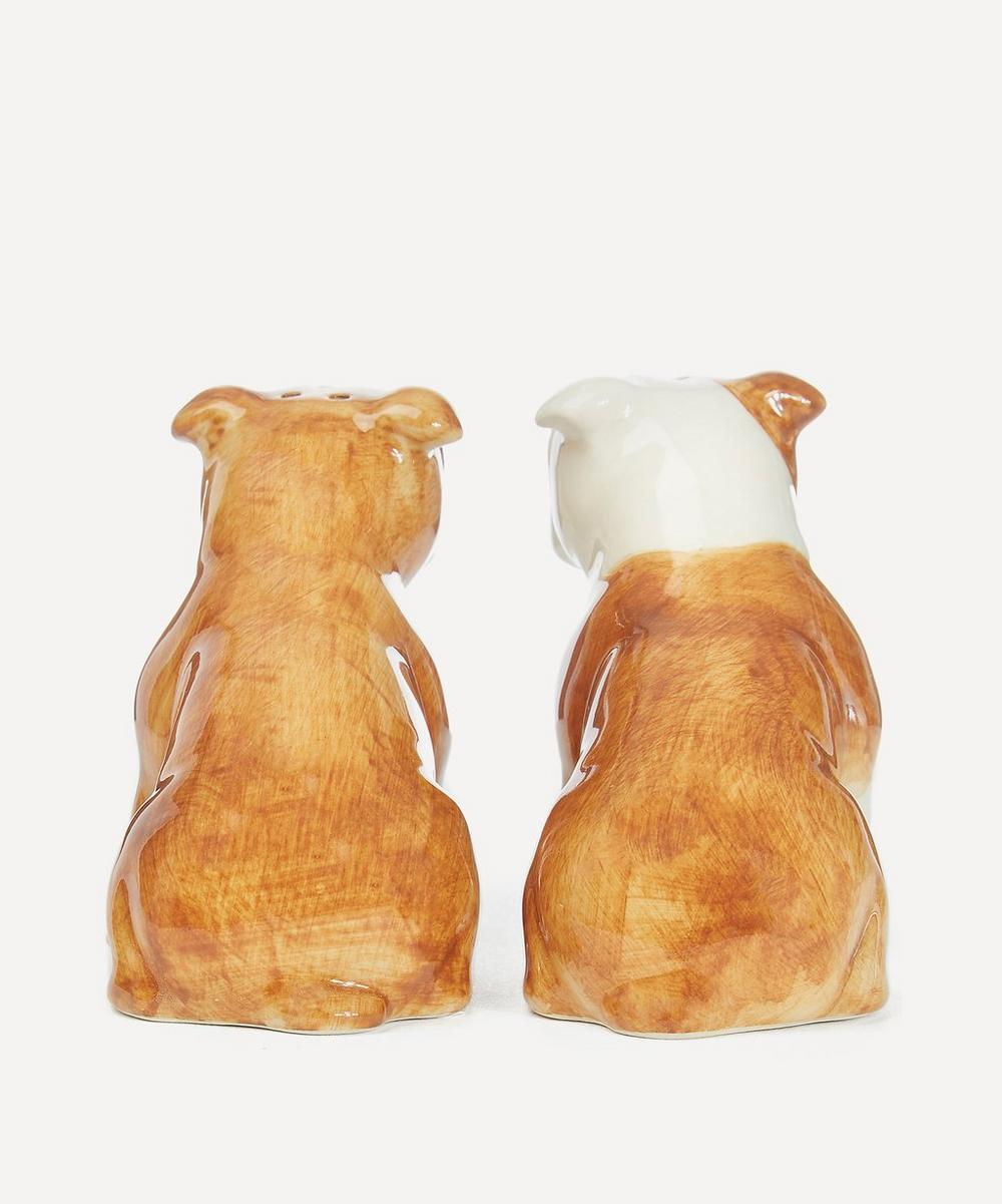 Bulldog Stoneware Salt and Pepper Shakers