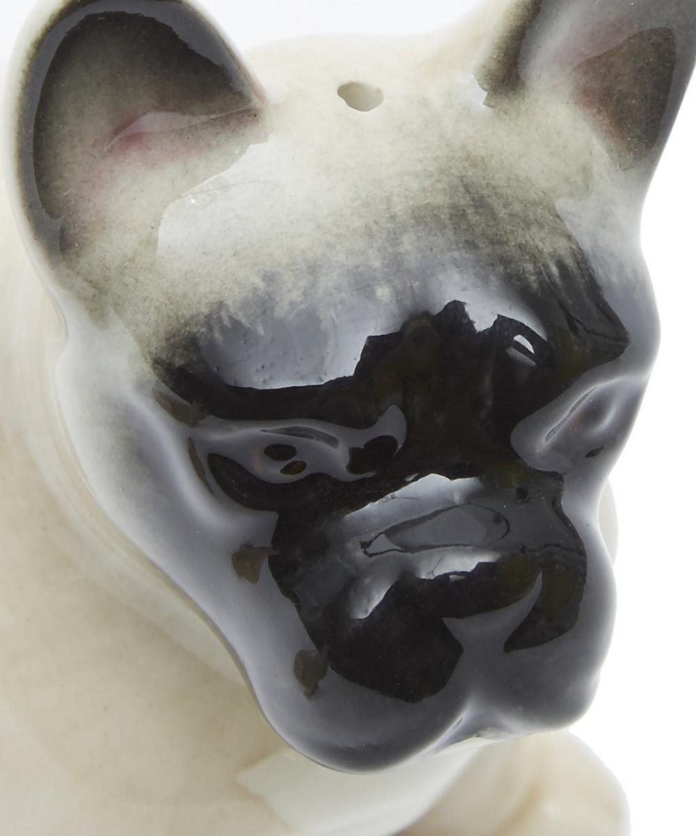 Bulldog Stoneware Salt and Pepper Shakers