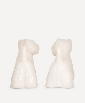 Westie Stoneware Salt and Pepper Shakers